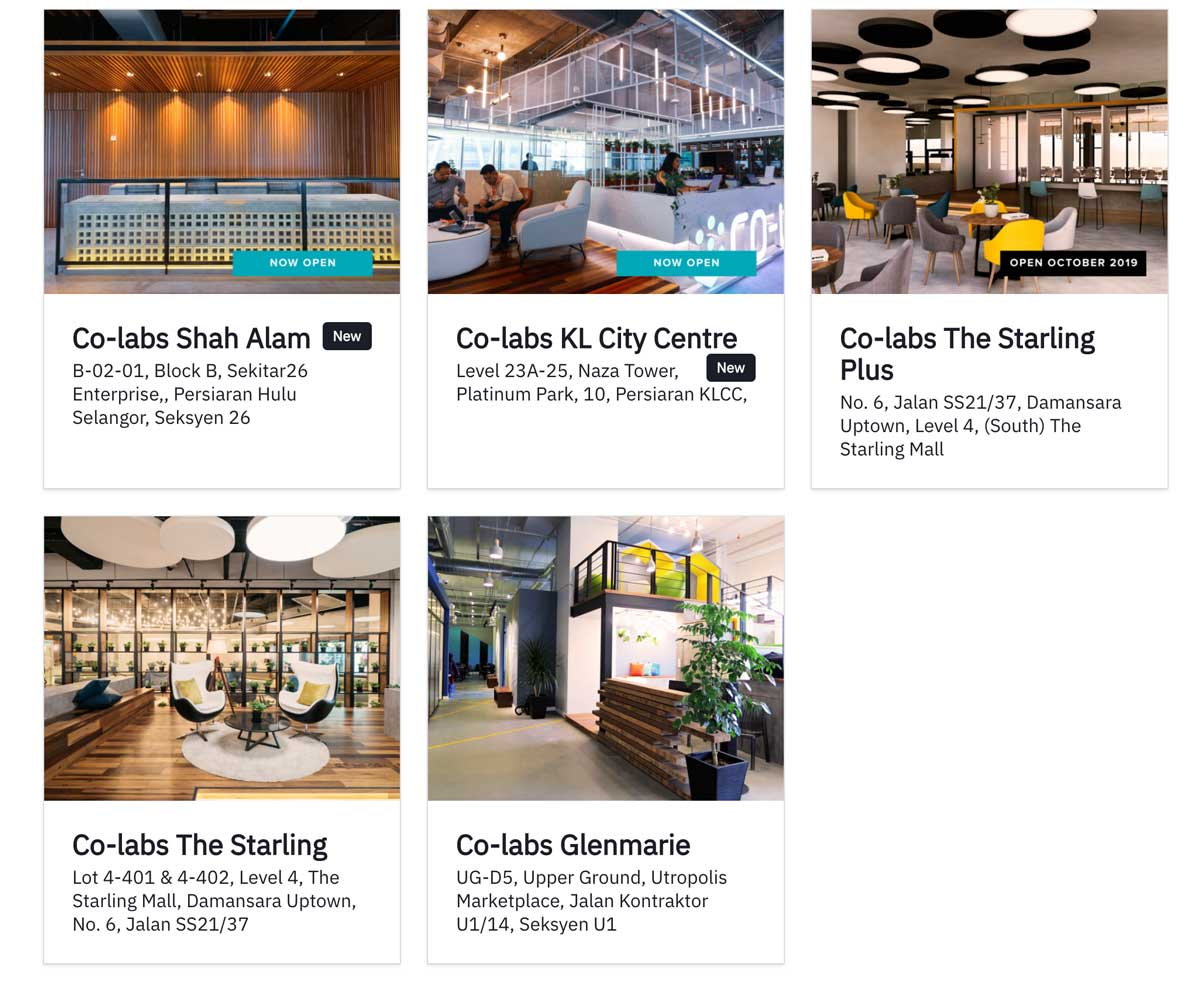 Co-labs Coworking Locations